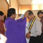 pemberkatan oleh Pr Riduan Naibaho, Pr